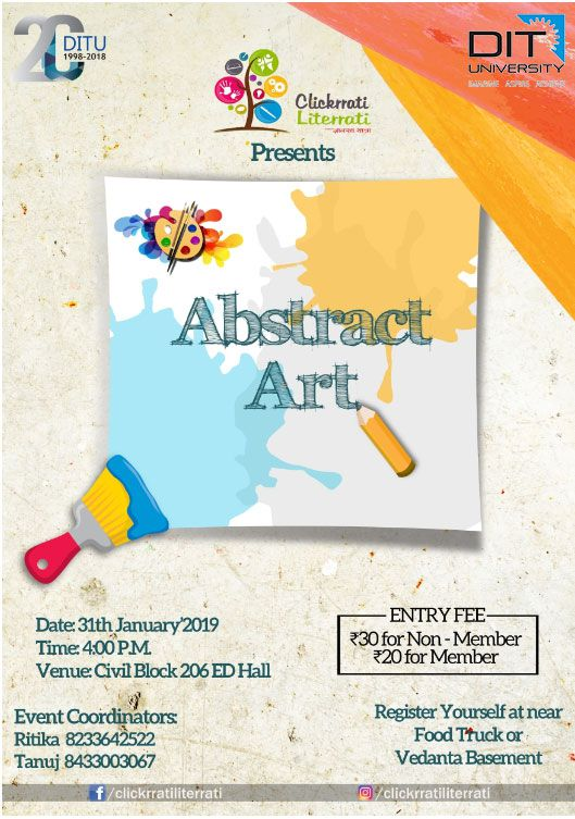 'ABSTRACT ART' Competition by 'Clickrrati Literrati Club'