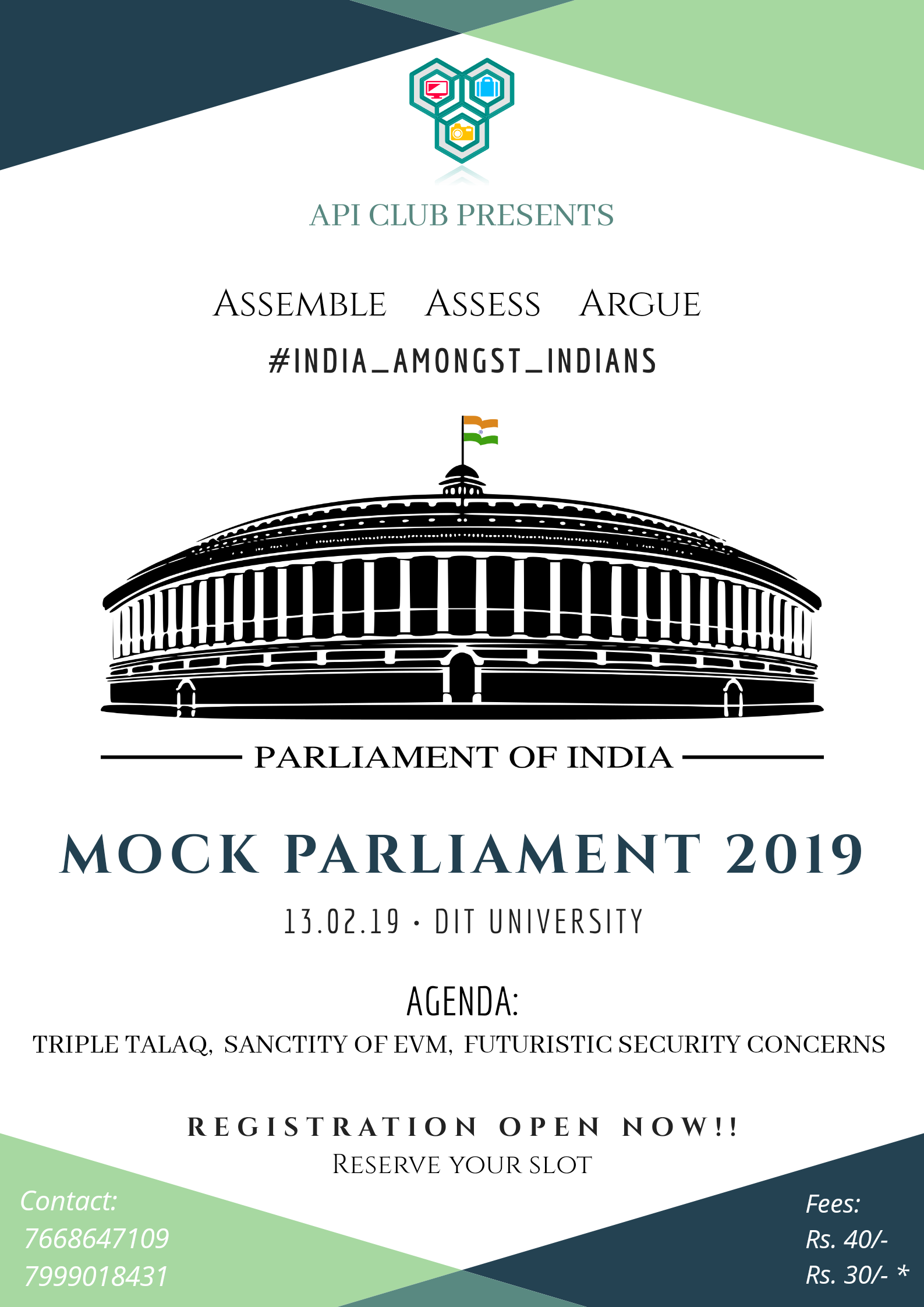 Mock Parliament 2019 by API Club
