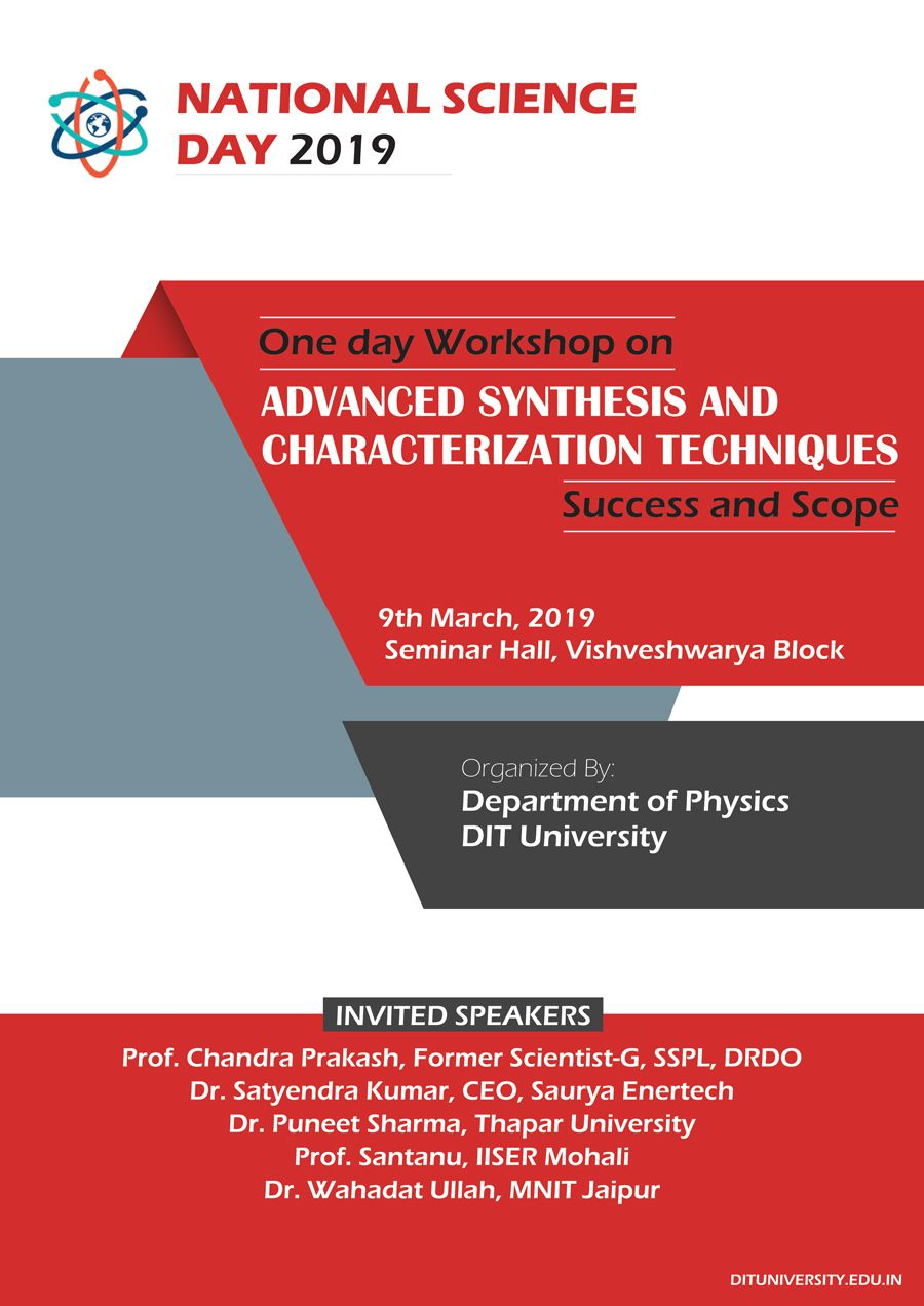 Workshop on 'Advanced Synthesis and Characterization Techniques'