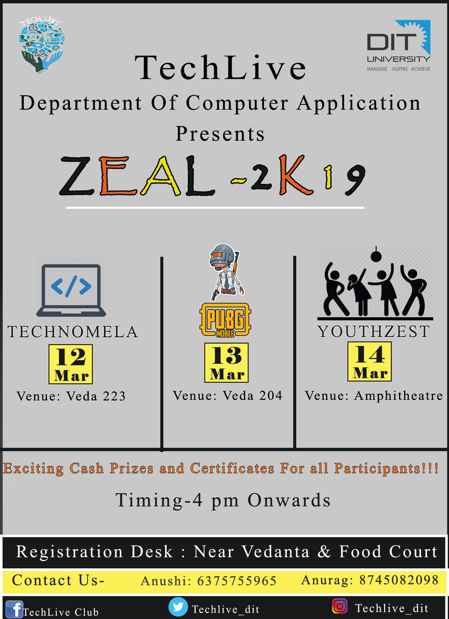 3 day 'ZEAL-2K19' by TechLive Club