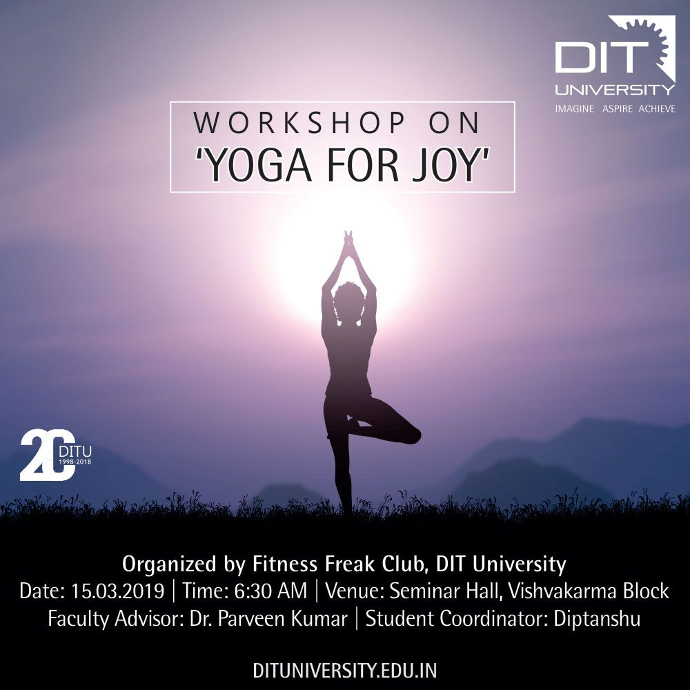 Workshop on 'Yoga for Joy'