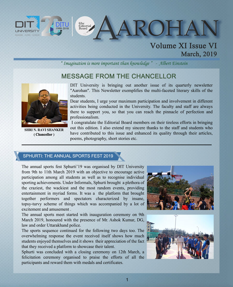 Aarohan - March 2019 Edition
