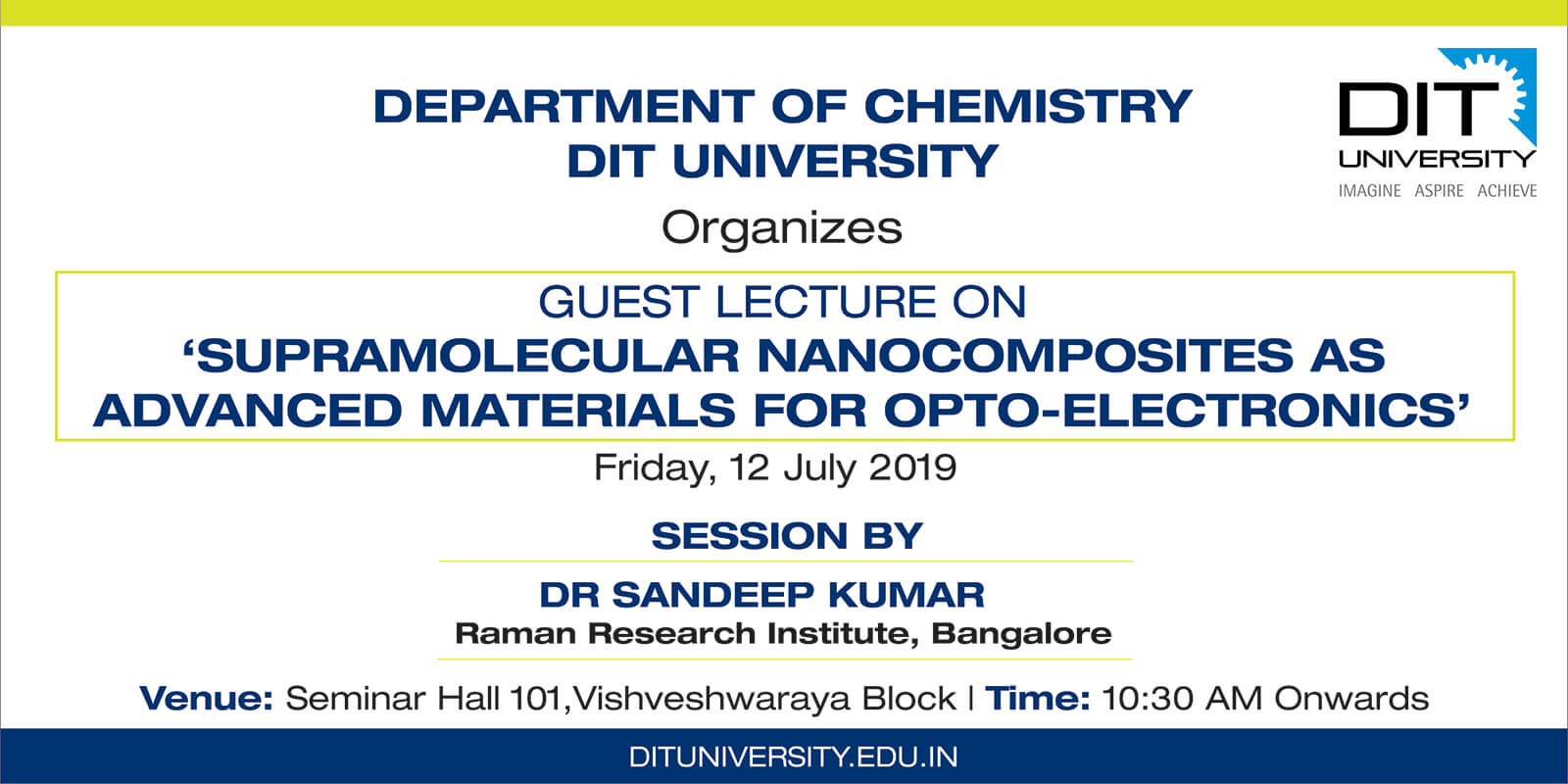 GUEST LECTURE ON 'SUPRAMOLECULAR NANOCOMPOSITES AS  ADVANCED MATERIALS FOR OPTO-ELECTRONICS'