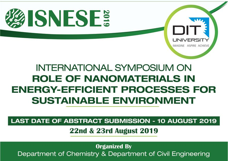 International Symposium on Role of Nanomaterials in Energy-Efficient Processes for Sustainable Environment
