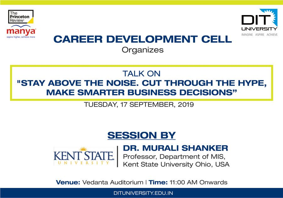 "Talk on ""STAY ABOVE THE NOISE.."" by Career Development Cell"