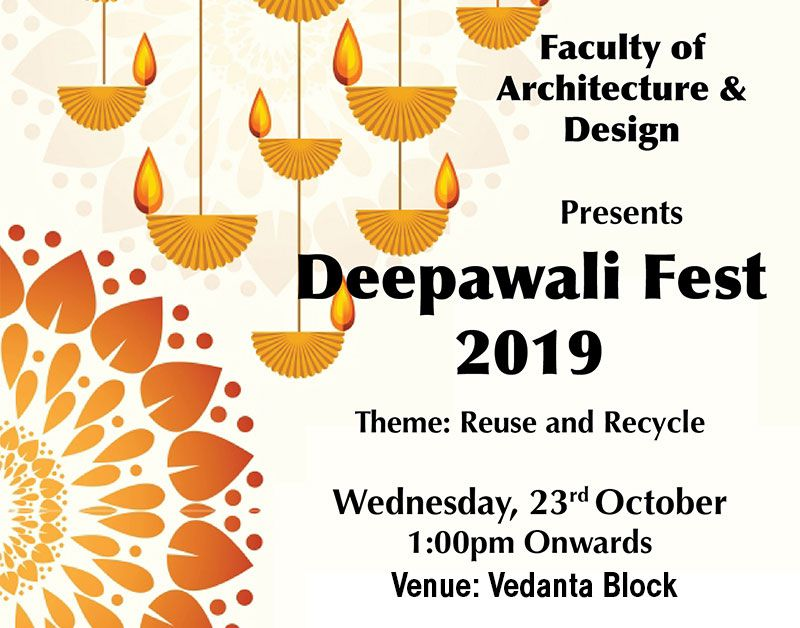 Dipawali Fest 2019 by Faculty of Architecture & Design