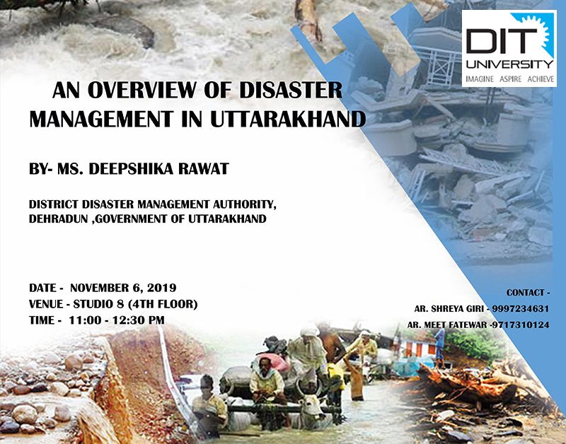 "Guest Lecture on ""An Overview of Disaster Management in Uttarakhand"""