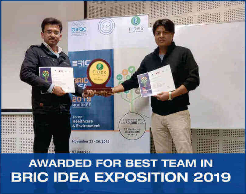 Faculty of Pharmacy, DIT University awarded for 'Best Team' in BRIC Idea Exposition 2019