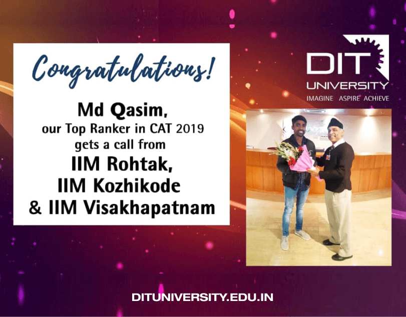 Congratulations to Md. Qasim, our top ranker in CAT 2019, gets a call from country's top Institutions