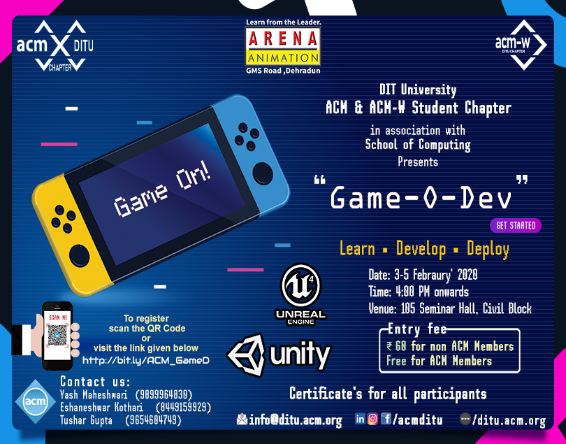'Game-O-Dev' by ACM & ACM-W Student Chapter
