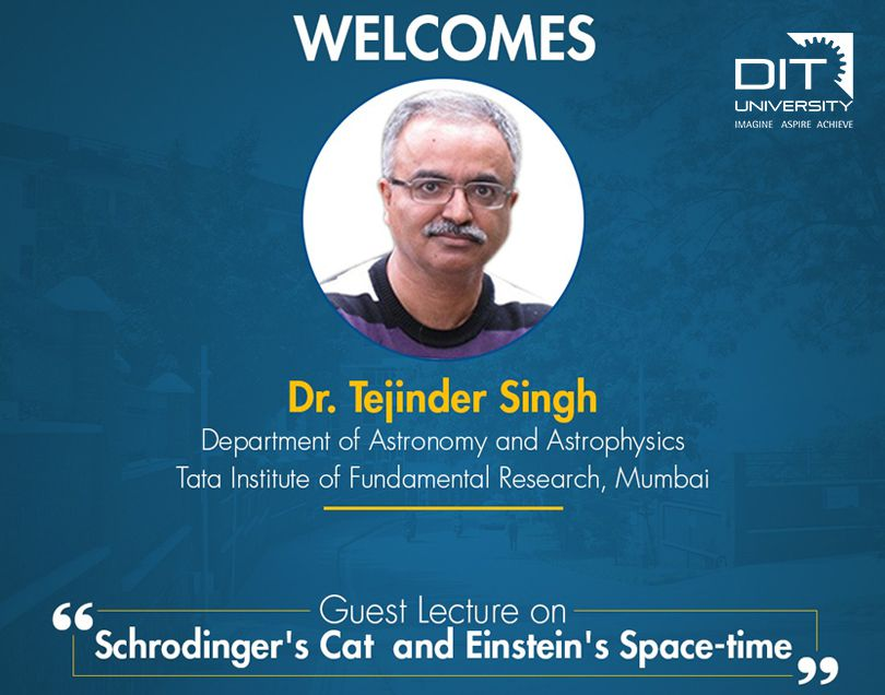 Guest Lecture on 'Schrodinger's Cat and Einstein's Space-time'