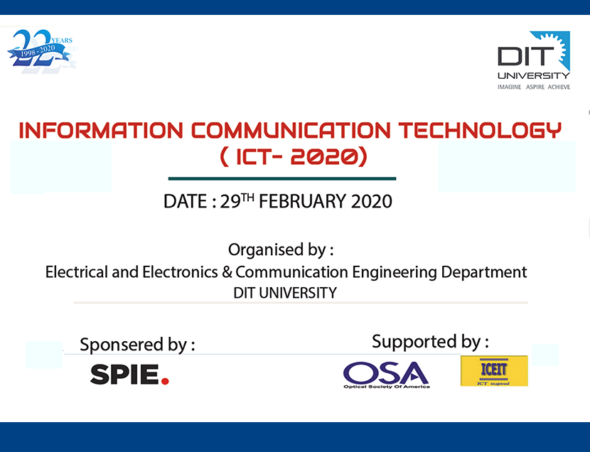 ICT-2020 - SPIE Symposium