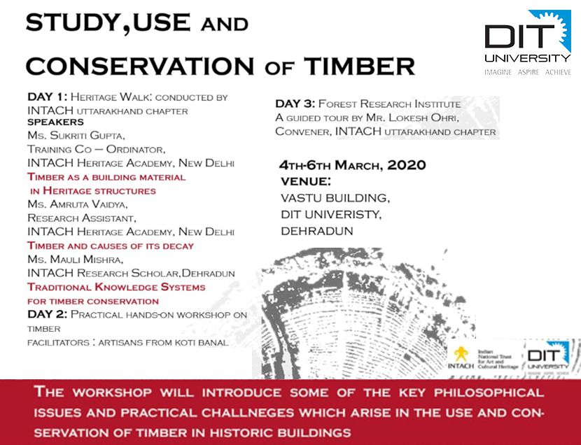 Workshop on Study, Use and Conservation of Timber