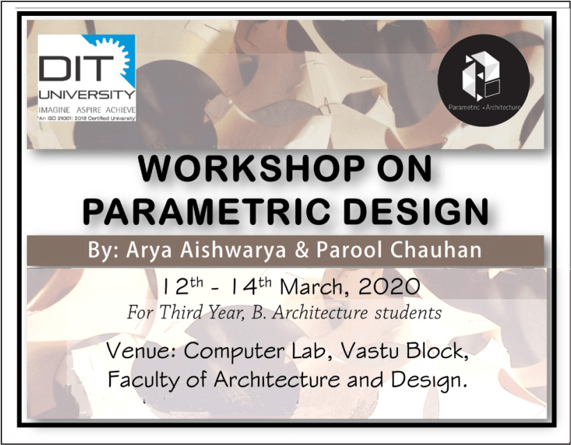 Workshop on 'Parametric Design'