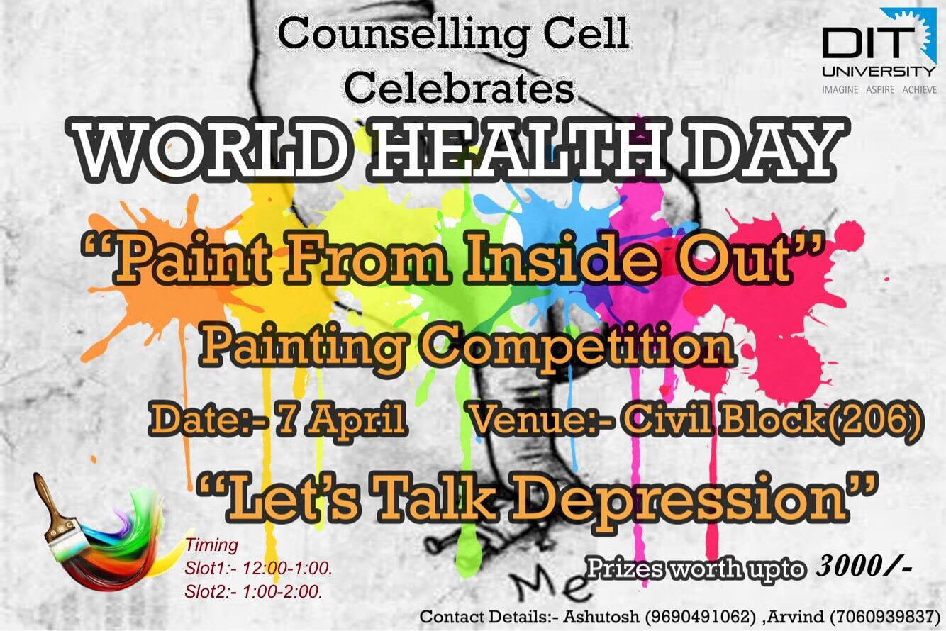 "World Health Day 2017 - Painting Competition on theme ""Depression: Let's Talk"""
