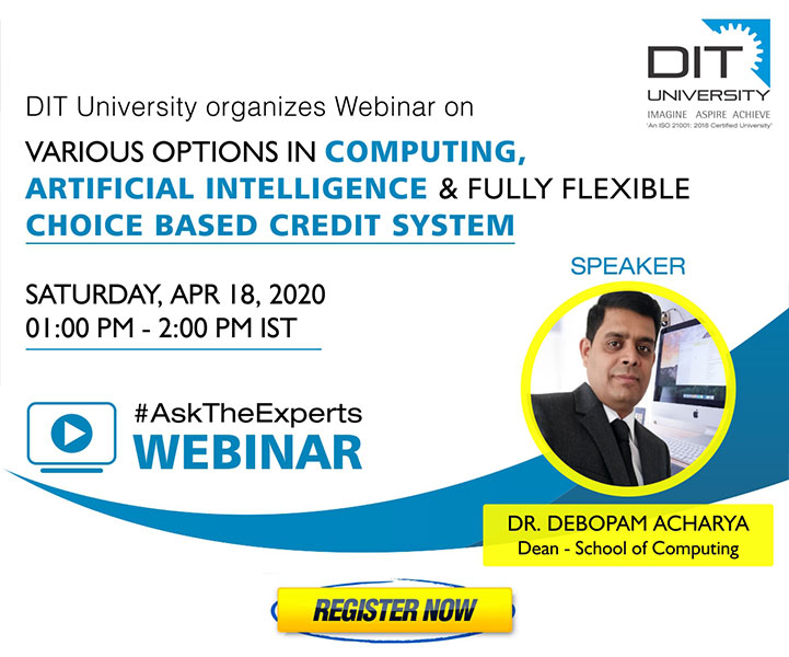 Webinar on 'Various options in Computing, Artificial Intelligence & Fully Flexible Choice Based Credit System'