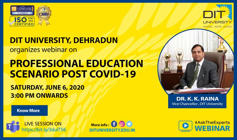 Webinar on 'Professional Education Scenario Post COVID-19'