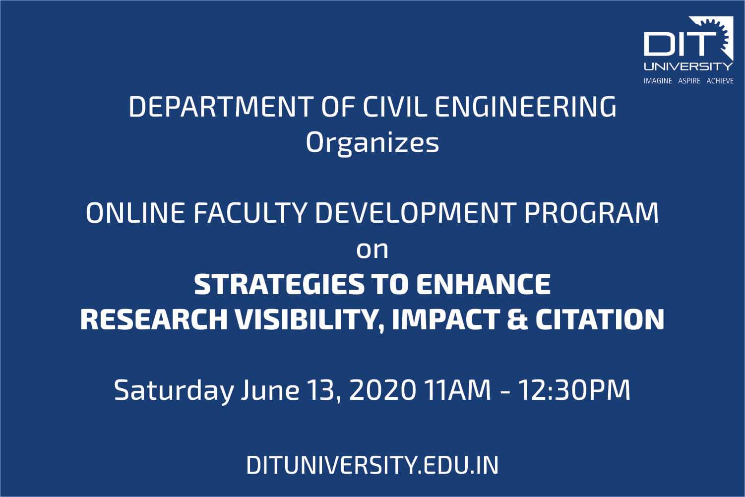 'Online Faculty Development Program' by Department of Civil Engineering
