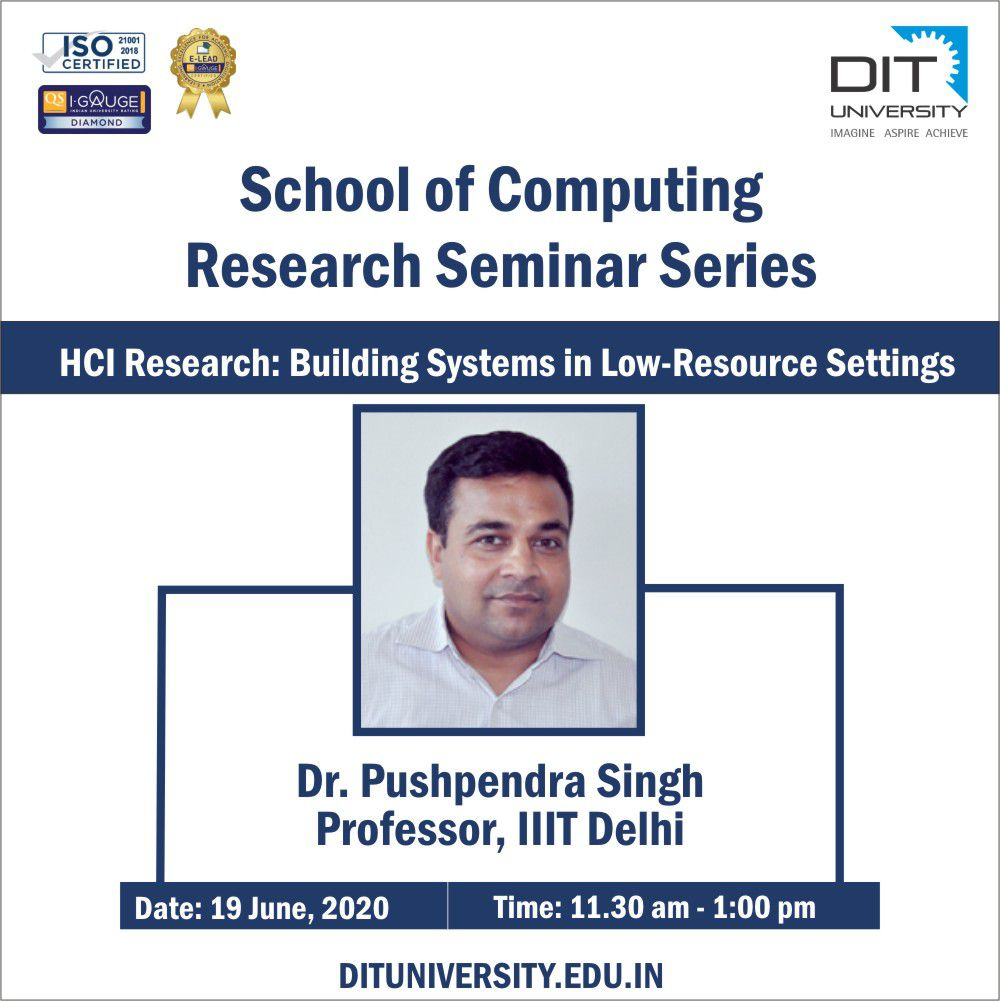 Research Seminar on HCI Research: Building Systems in Low-Resource Settings