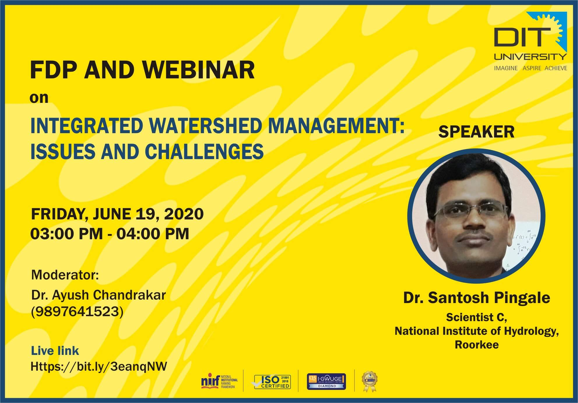 FDP & Webinar on 'Integrated Watershed Management: Issues & Challenges'