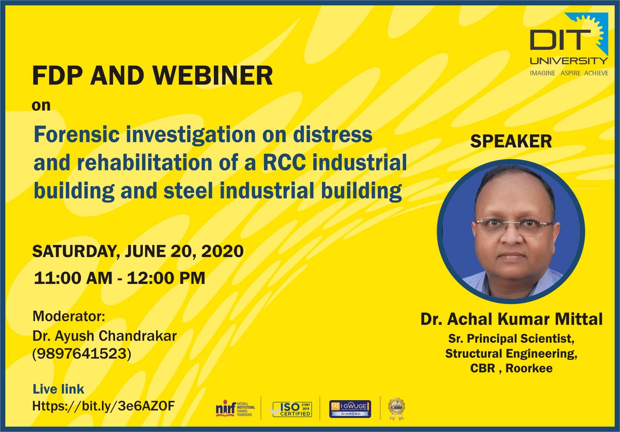 Webinar on 'Forensic Investigation on Distress and Rehabilitation of a RCC Industrial Building and Steel Industrial Building'