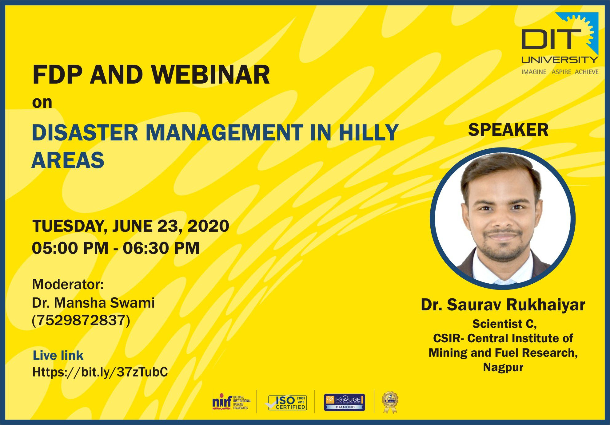 Webinar on 'Disaster Management Techniques In Hilly Areas'