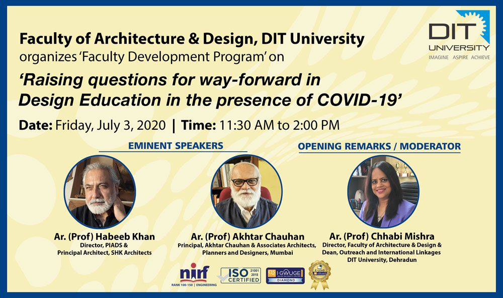 FDP on 'Raising questions for way-forward in Design Education in the presence of COVID-19'