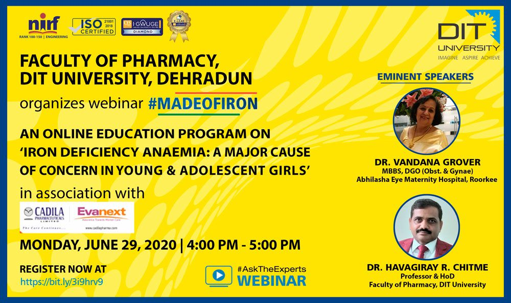 #MADEOFIRON - An Online Education Program on 'Iron Deficiency Anaemia'