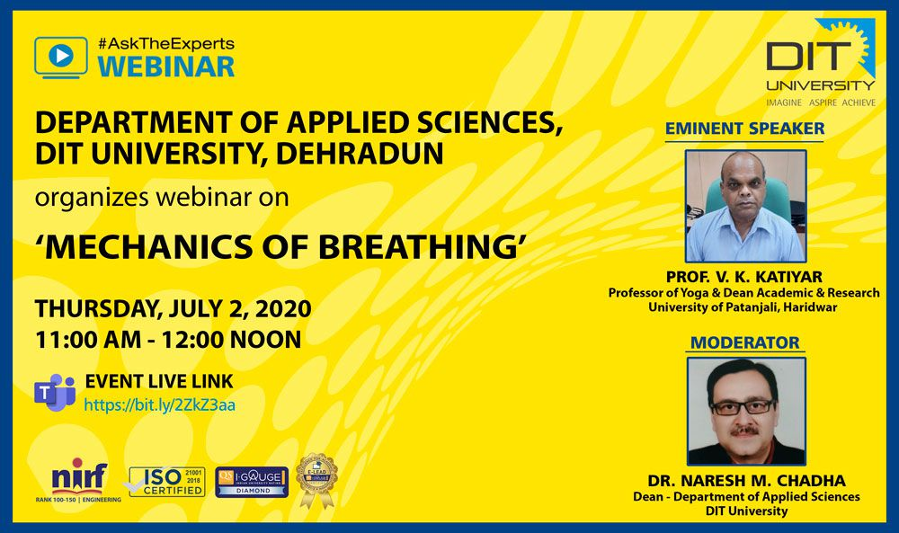 Webinar on 'Mechanics of Breathing'