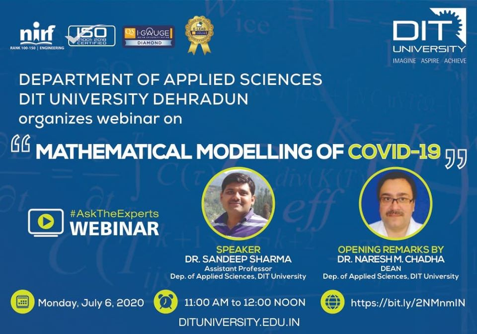 Webinar on 'Mathematical Modelling of COVID-19'