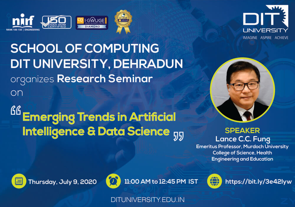 Webinar on 'Emerging Trends in Artificial Intelligence & Data Science'
