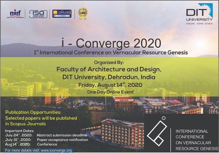 I-Converge: '1st International Conference on Vernacular Resource Genesis'