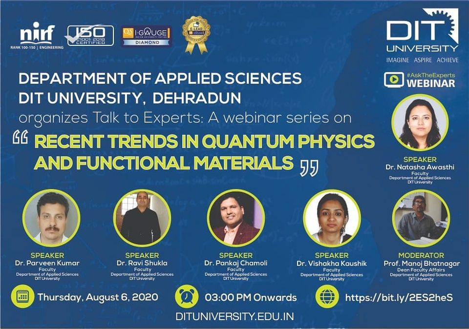 Webinar on 'Recent Trends in Quantum Physics and Functional Materials'