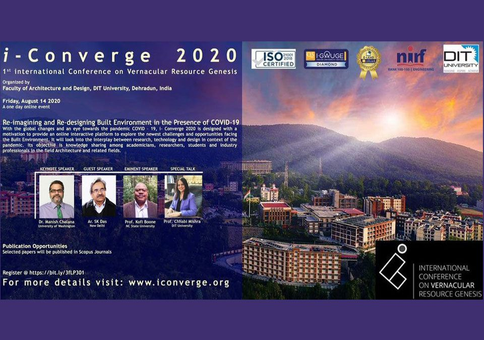 1st International Conference on Vernacular Resource Genesis - i-Converge 2020