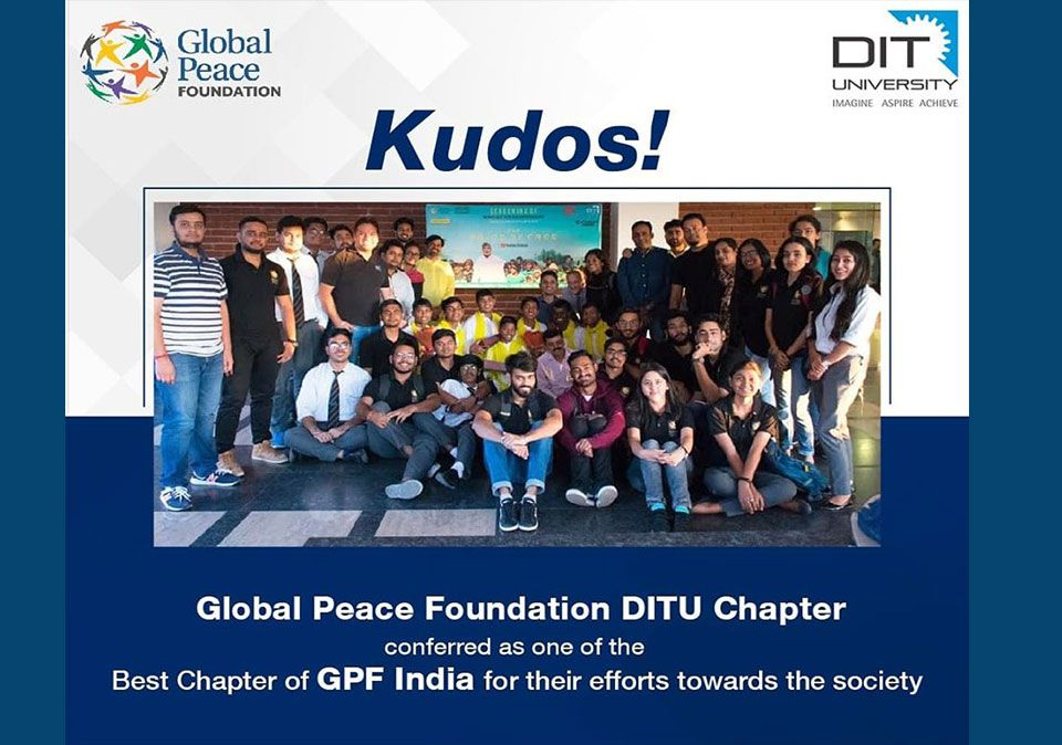 GPF-DITU Chapter conferred as one of the best chapter of GPF India