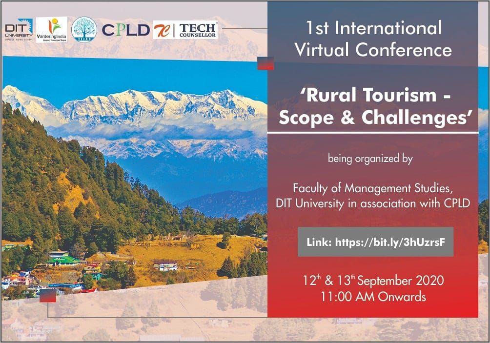 1st International Virtual Conference about Scope and Challenges in Rural Tourism