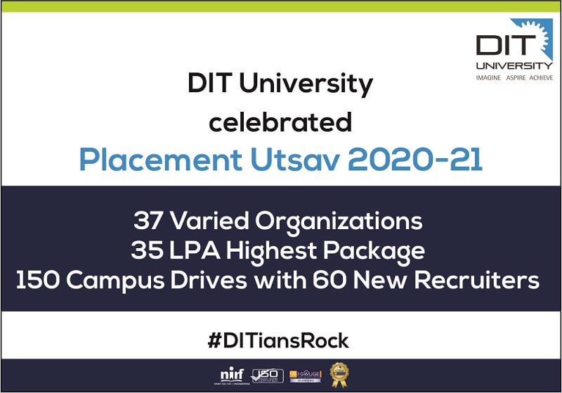 Celebrating Placement Utsav for 2020-21 Batch of #DITians