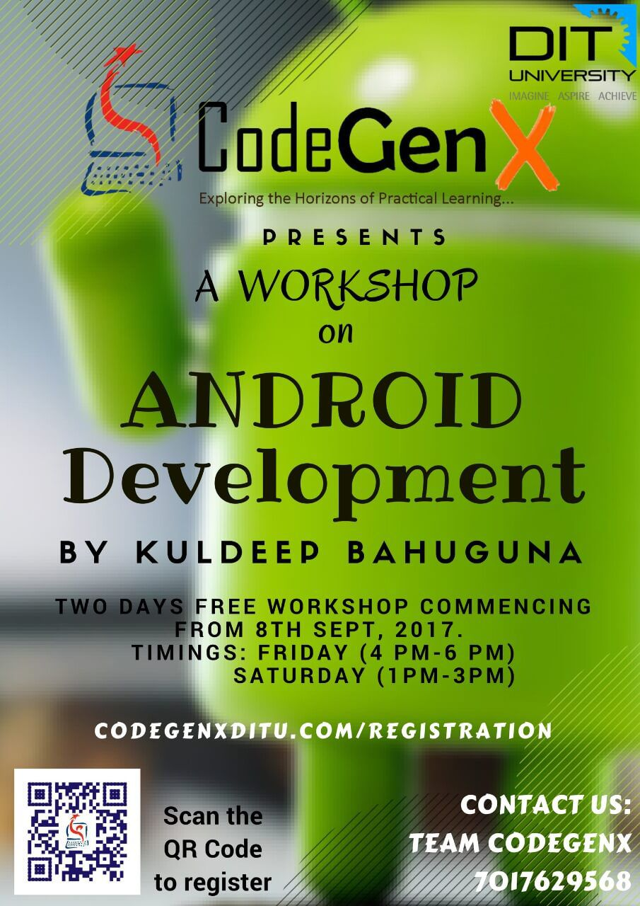 2 Days Free Workshop on Android App Development