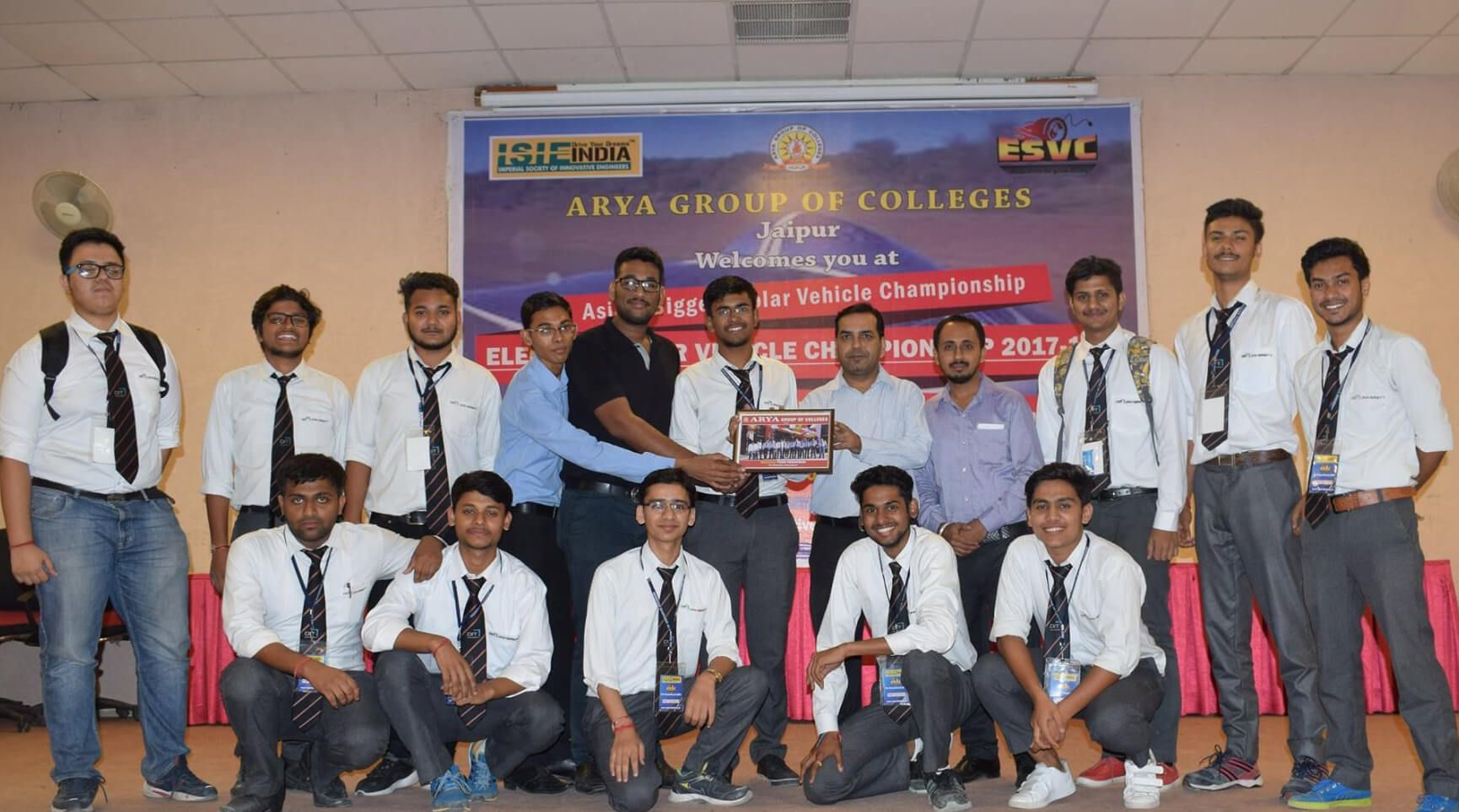 'Team Parakram' for achieved ALL INDIA RANK 1st in Pre-virtual round of Electric Solar Vehicle Championship (ESVC-2018) held at Rajasthan