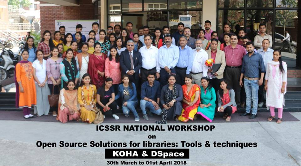 3 Days Workshop on 'OPEN SOURCE SOLUTIONS FOR LIBRARIES - KOHA & DSPACE'
