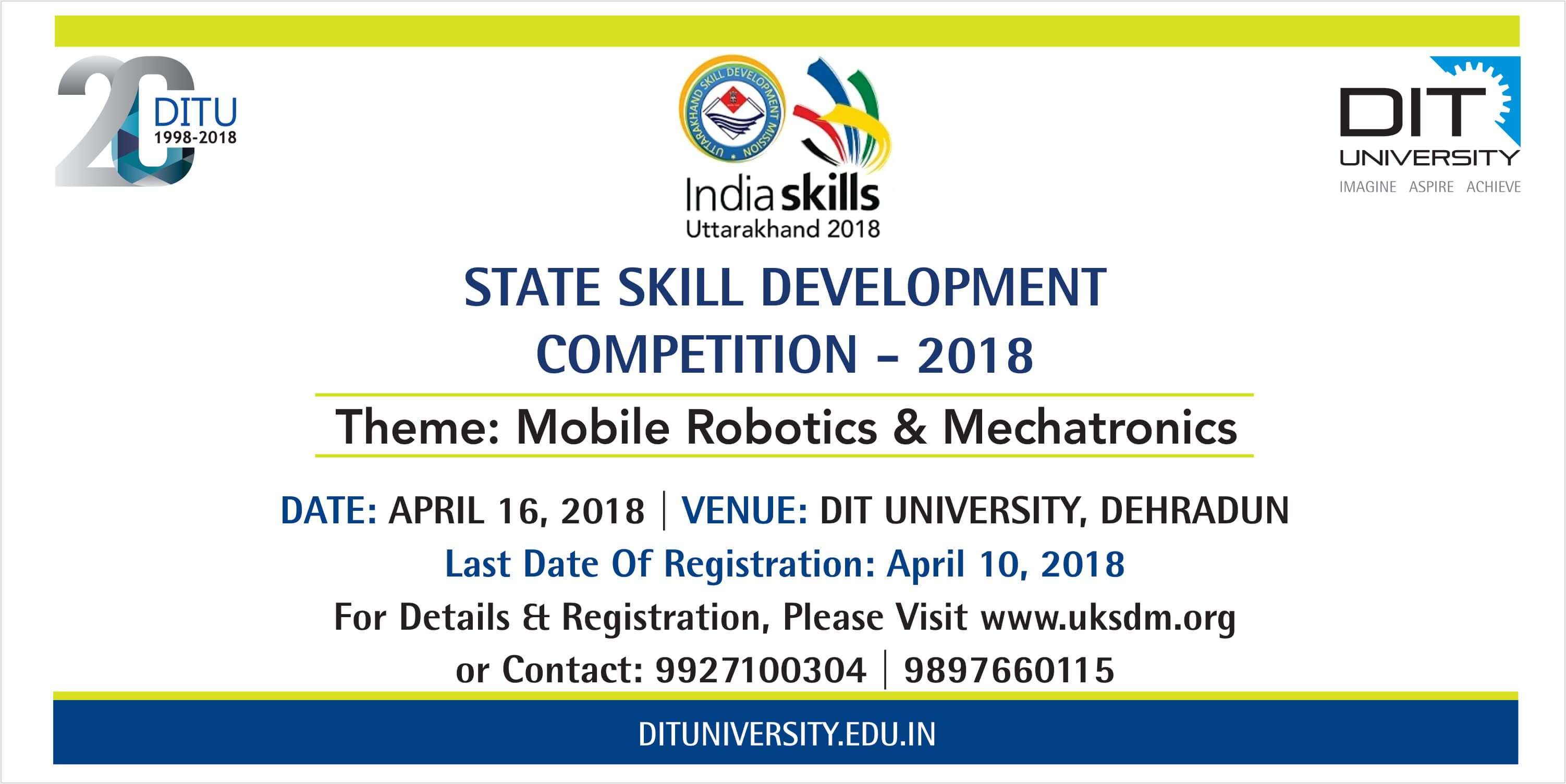 State Skill Development Competition - 2018