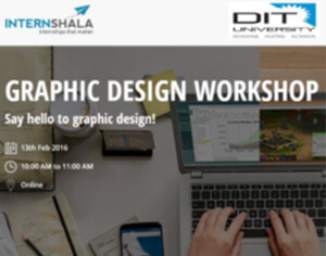 "An online workshop by Internshala on ""Graphic Design"""