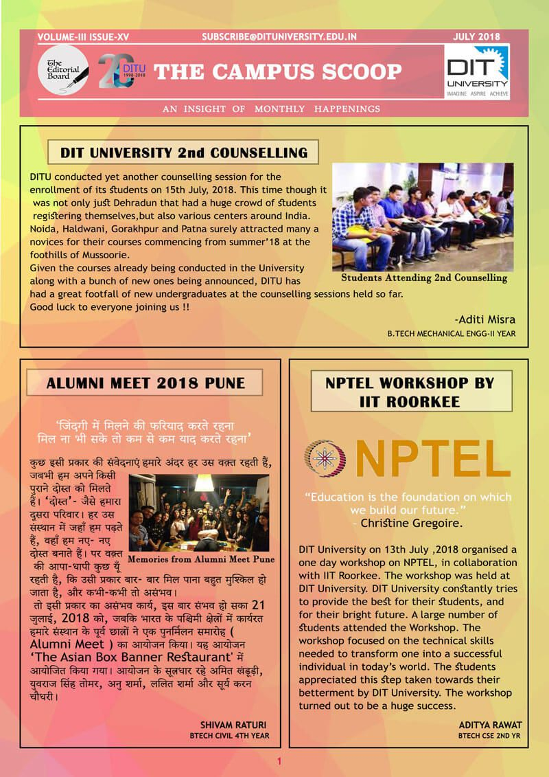 The Campus Scoop - July 2018 Edition