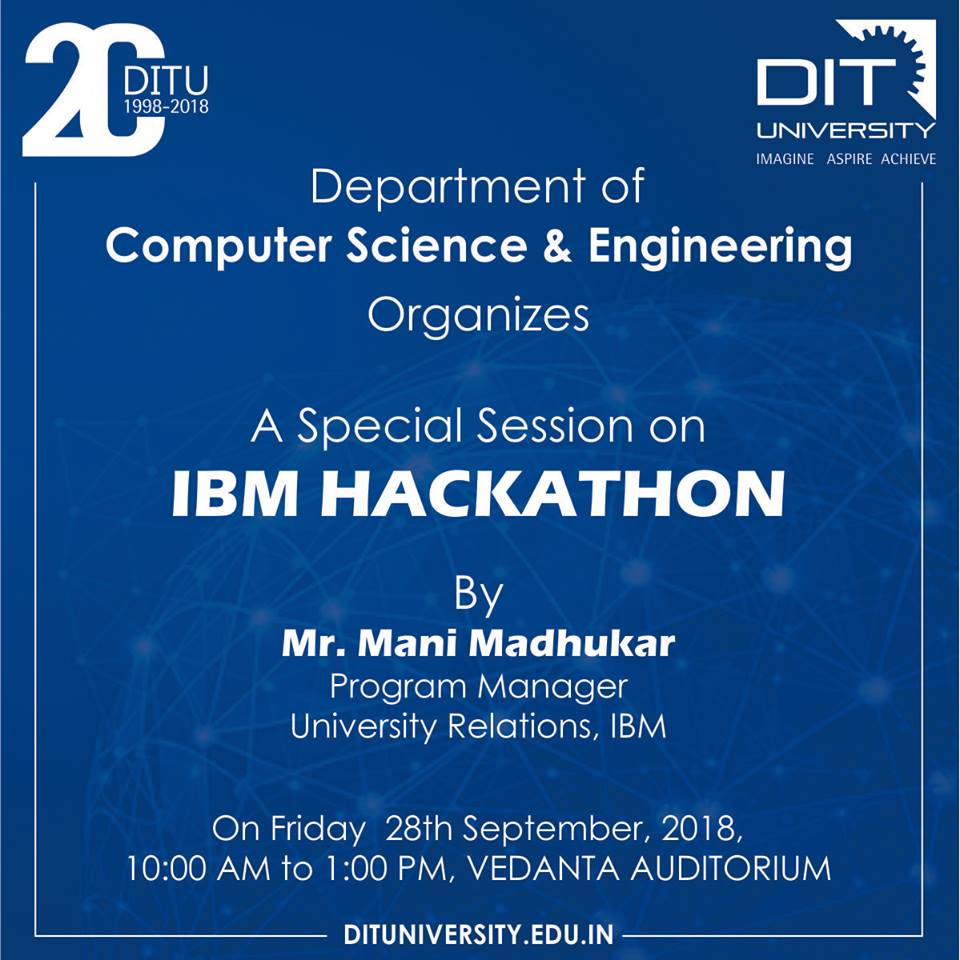 Special Session on IBM Hackathon