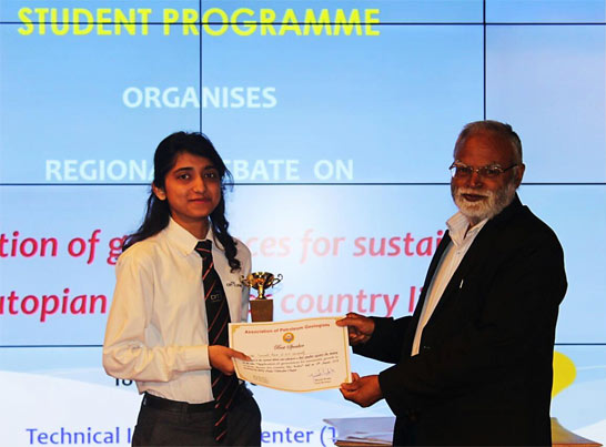 Pranali Rane, Best Speaker position in regional debate